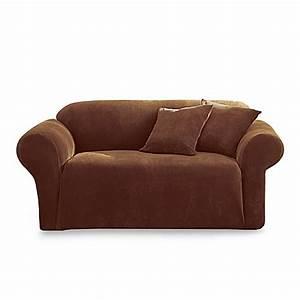 stretch pique chocolate 3 piece furniture covers by sure With 3 piece furniture covers
