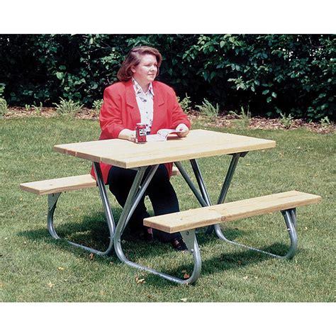 picnic table frame kit pilot rock picnic table frame kit 122670 patio