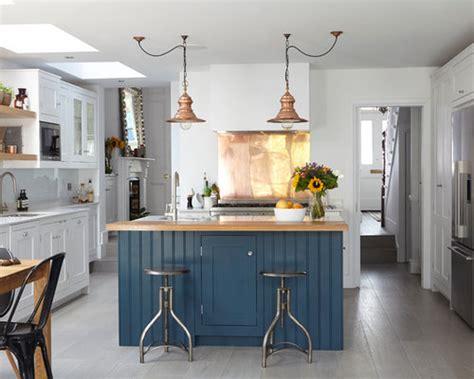 blue kitchen island houzz