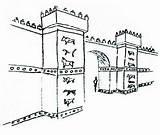Coloring Gate Ishtar Ziggurat Getcolorings Printable Google sketch template
