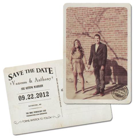 wedding save the date postcards vintage postcard wedding save the date mn wedding