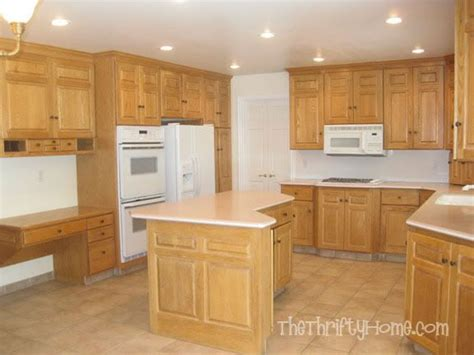 how to repaint kitchen cabinets without sanding the thrifty home kitchen remodel painting cabinets