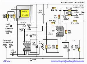 Phone To Sound Card Schematic And Board Layout