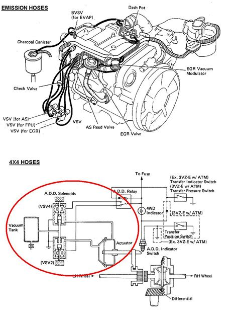 1994 Toyotum 4x4 3 0 Engine Diagram by I Need Hose Diagram For 1992 Toyota 4x4 With 3 0 Efi Engine