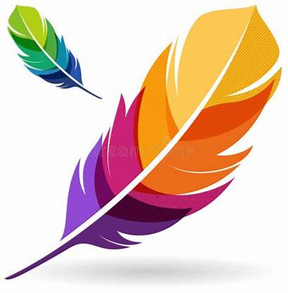 Colorful Feather Feathers Illustration Vector Clipart Vibrant