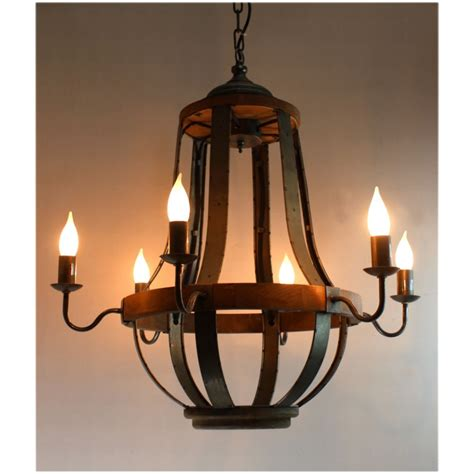 Vintage Style Chandelier by 579 Iron And Aged Wood Chandelier Country