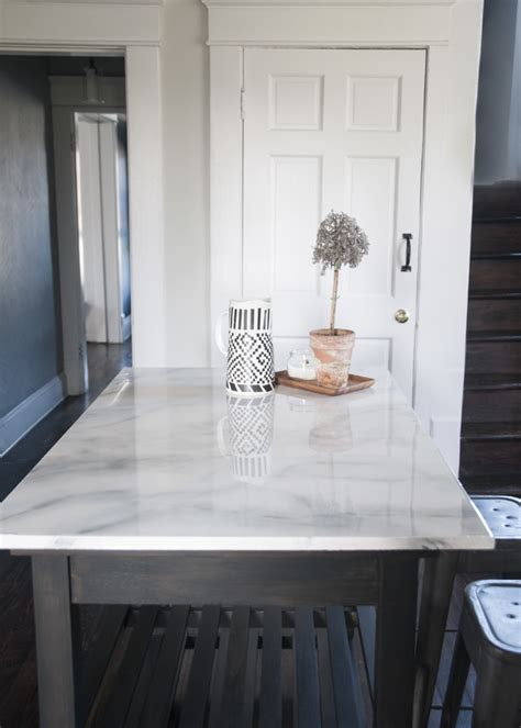 faux marble countertop diy painted countertops decorating your small space