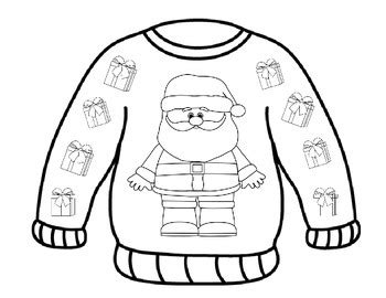 """""""ugly Sweater"""" Coloring Pages By Myacestraw  Teachers Pay Teachers"""