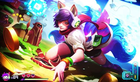 Ahri Animated Wallpaper - league of legends arcade ahri wallpaper by
