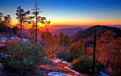Mountain Fall Mountains Autumn Sunset Wallpapers Early