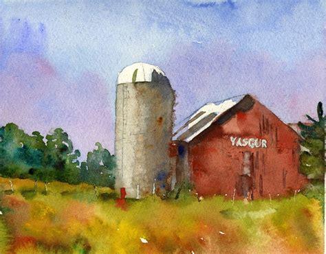 landscape painting max yasgurs farm woodstock