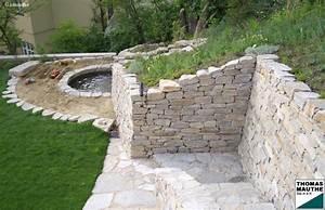 Steinmauer Im Garten : steinmauern im garten bilder ~ Lizthompson.info Haus und Dekorationen