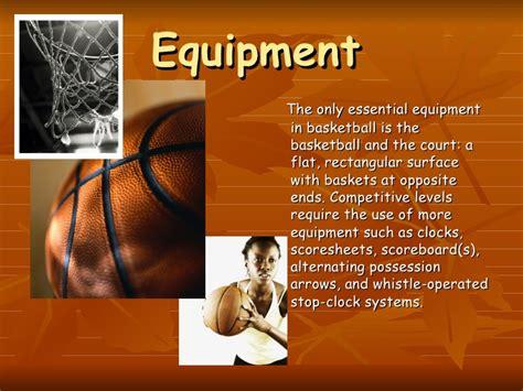 basketball history presentation basket equipment