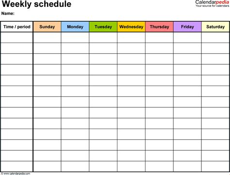English Budget Template by 5 Weekly Time Schedule Template Budget Template Letter