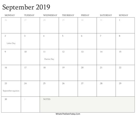 editable calendar september holidays whatisthedatetodaycom