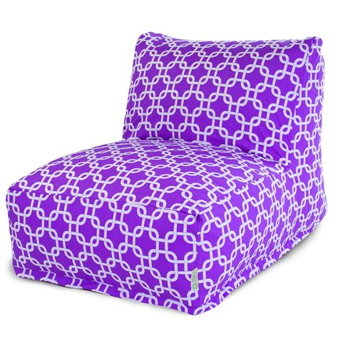 shop majestic home goods purple bean bag chair at lowes