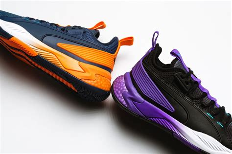 puma uproar hybrid court asg fade shocking orange