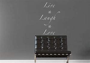 live laugh love 2 text quotes wall stickers adhesive wall With kitchen colors with white cabinets with live laugh love wall art stickers