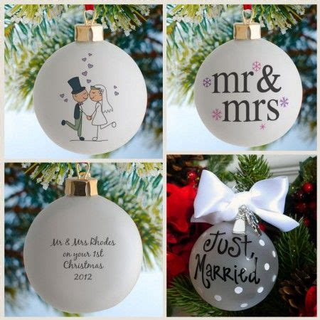 personalised wedding christmas baubles so cute