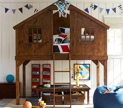 tree house bed treehouse loft bed pottery barn kids