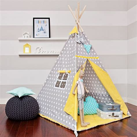 Tipi Zelt Kinderzimmer Etsy by Teepee Play Tent Tipi Yellow Dots By Funwithmum On