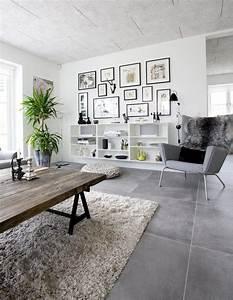 beautiful salon carrelage gris pictures joshkrajcikus With exceptional quelle couleur associer avec du gris 0 carrelage gris avec quelles couleurs lassocier idees
