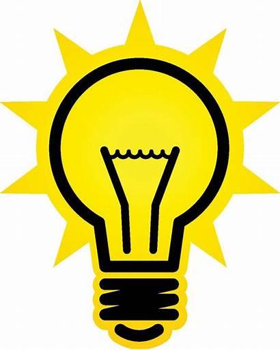 Bulb Clipart Clip Lightbulb Background Idea Cliparts