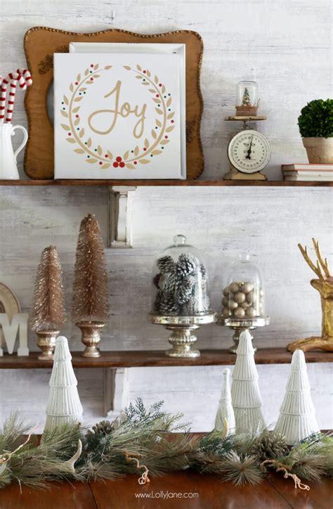 decorate shelves  christmas