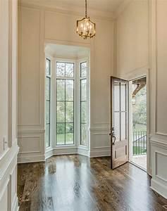High Foyer Ceiling With Bay Windows Cottage Entrancefoyer