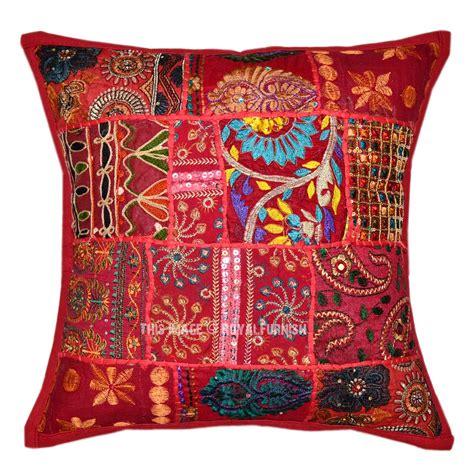 boho pillow covers decorative boho accent unique pretty patchwork 16x16