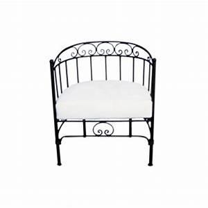 Fauteuil Fer Forgé : fauteuil fer forg pas cher table de lit ~ Teatrodelosmanantiales.com Idées de Décoration