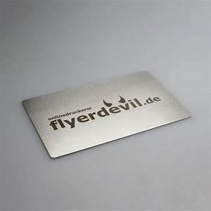 Visitenkarten Auf Rechnung : visitenkarten aus metall online drucken jetzt bei flyerdevil ~ Themetempest.com Abrechnung