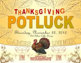 thanksgiving potluck galano club