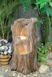 Tree Stump Cascade Water Feature With Lights  U00a3169 99
