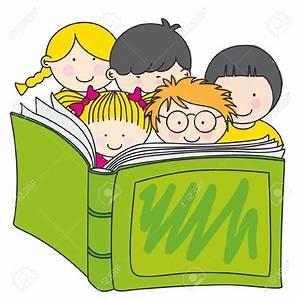 12352600-children-reading-a-book-Stock-Vector-cartoon-book ...