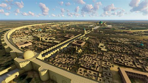 century wall a 3d model of early baghdad in the 8th century