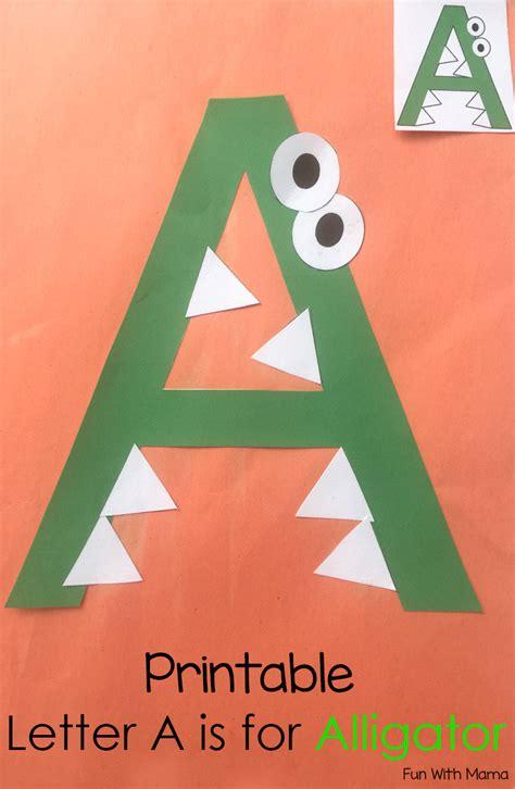 printable letter  crafts    alligator