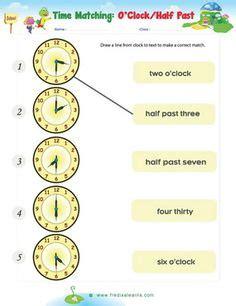time worksheets oclock   quarter