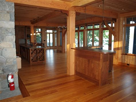 wood home interiors design details in a timber frame home
