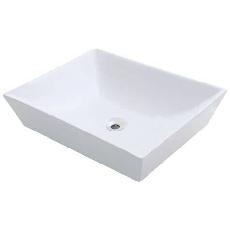 home depot vessel sinks polaris sinks porcelain vessel sink in white p073v w the