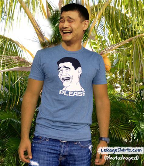 Meme Yaoming - yao ming wearing yaoming shirt meme yaomingception ception t shirt rage face lerage shirts