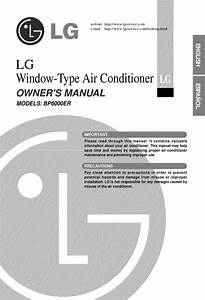 Lg Bp6000er User Manual Window Air Conditioner Manuals And