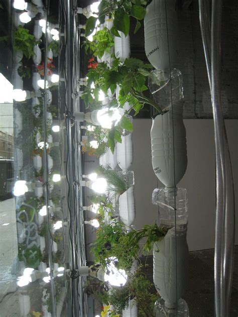 Vertical Hydro Garden by Vertical Hydro Garden From Re Used Plastic Water Bottles