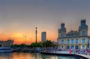 Barcelona Spain Sunset