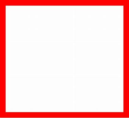 Square Clipart Outline Clip Shape Transparent Rectangle