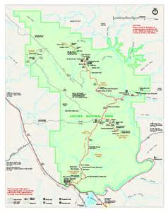 Arches National Park Utah Map