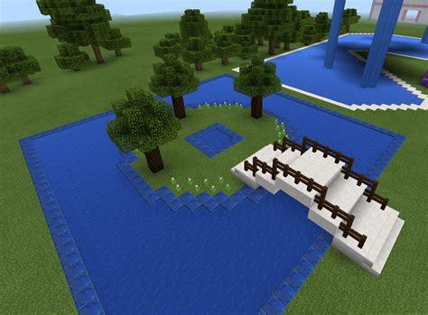 Garden Decoration Minecraft by Minecraft Bridge And Garden And Pond Minecraft Creations