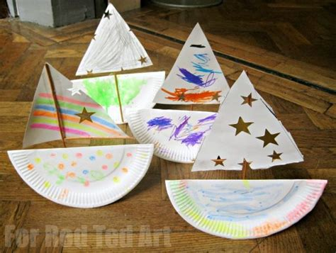 rocking paper plate boat ted 100 | Rocking boat preschool 600x453