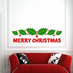 Merry christmas wall sticker by art designer gemma