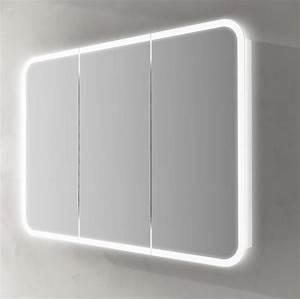 Specchiera Contenitore Led Interno Bianca 95x70hx15 In